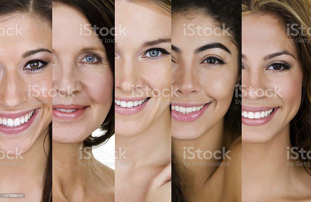 Variety of women stock photo