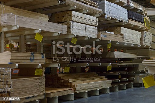 istock Variety of wood boards on shelf in supermarket 925493238
