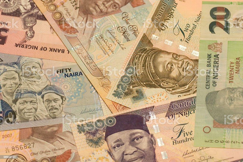 Various African money dollar bills royalty-free stock photo