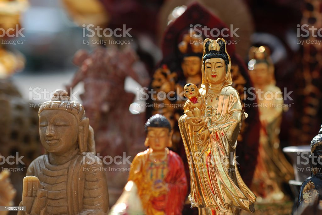 Various Asian Deities royalty-free stock photo