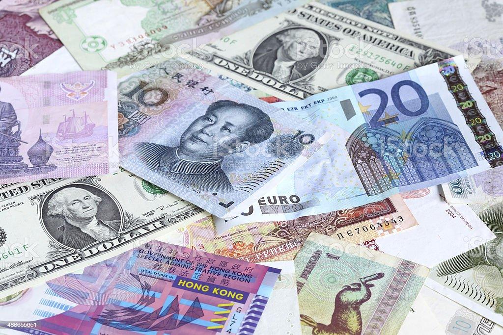 Various banknotes stock photo