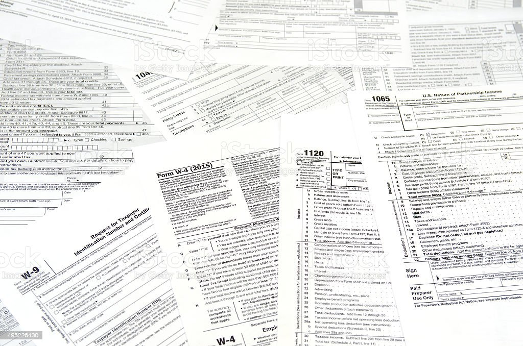various blank USA tax forms​​​ foto