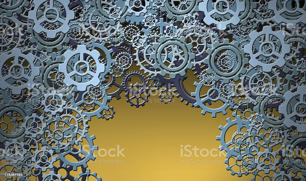 Various Blue Cogs royalty-free stock photo