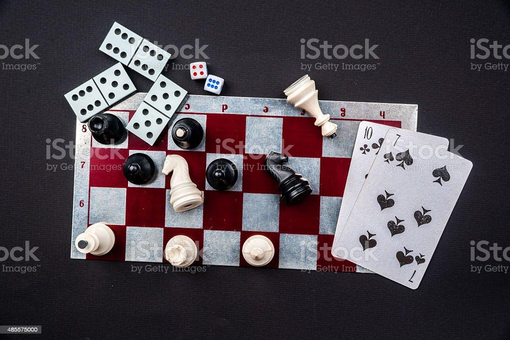 Various board games stock photo