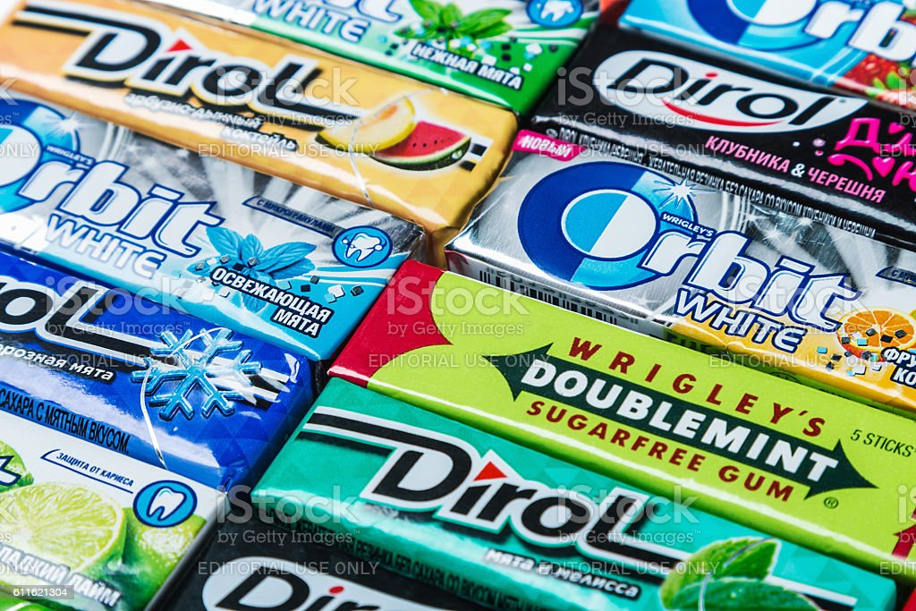 various brand chewing gum