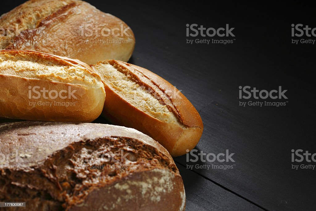 Various bread on table royalty-free stock photo