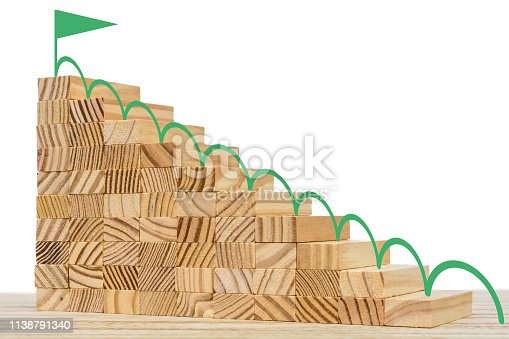 istock Various career opportunities as a motivating goal in life and career as a 3D rendered illustration 1138791340