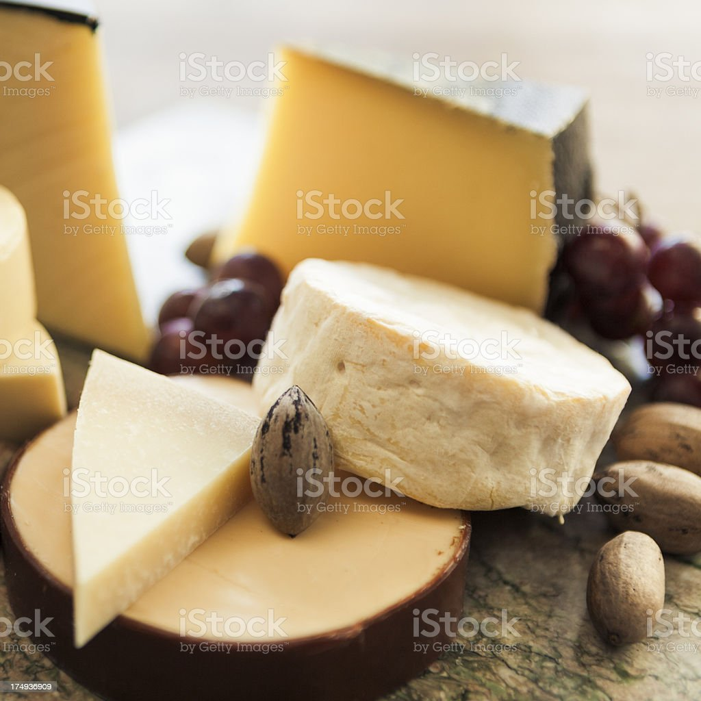 Various Cheeses stock photo