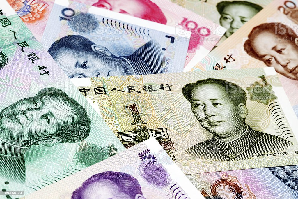 Various Chinese Currency stock photo