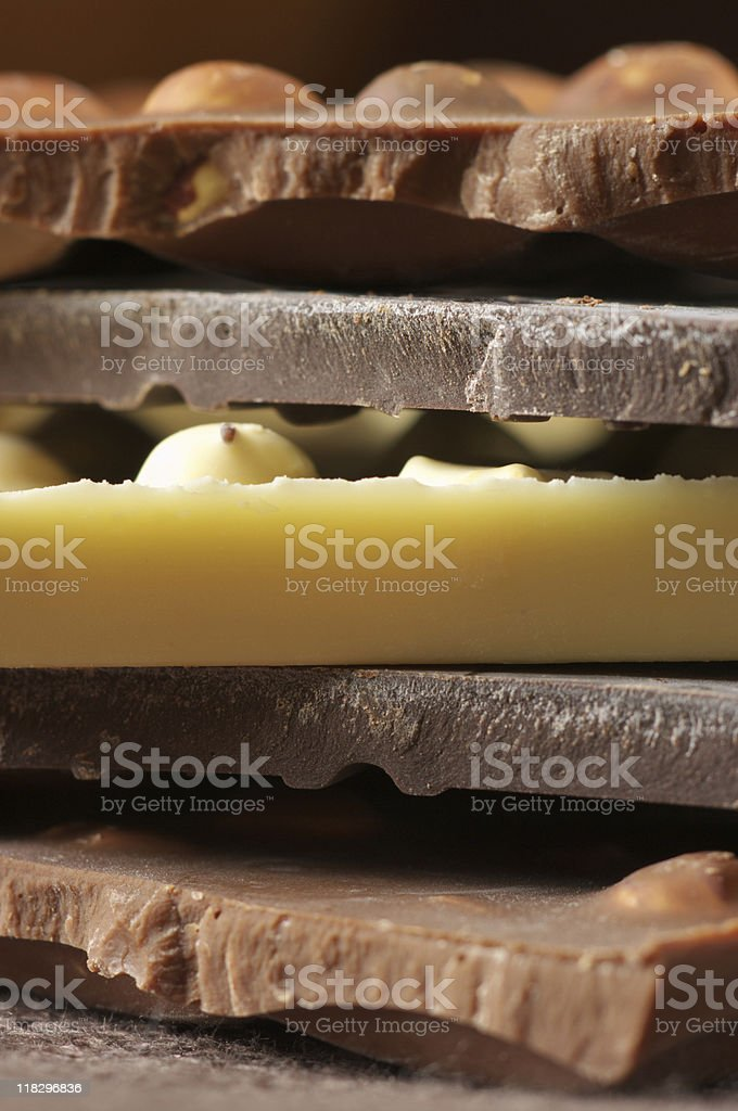 Various chocolate royalty-free stock photo