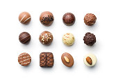 さまざまなチョコレートプラリーヌ