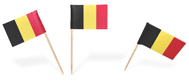 Divers cocktails flags de Belgique isolé sur blanc. (série - Photo