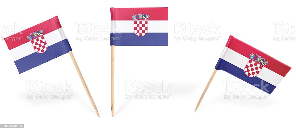 Vari cocktail Bandiera della Croazia isolato su nero. (serie - foto stock