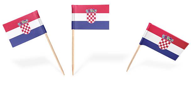 cocktail de várias bandeiras da Croácia isolado no white. (série - foto de acervo