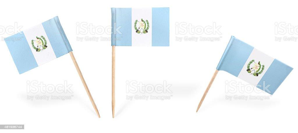 Varios cóctel flags de Guatemala aislado on white. (serie - foto de stock