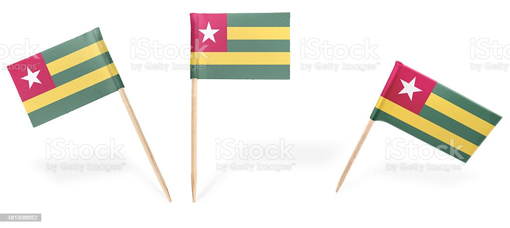 Various cocktail flags of Togo isolated on white.(series) stock photo