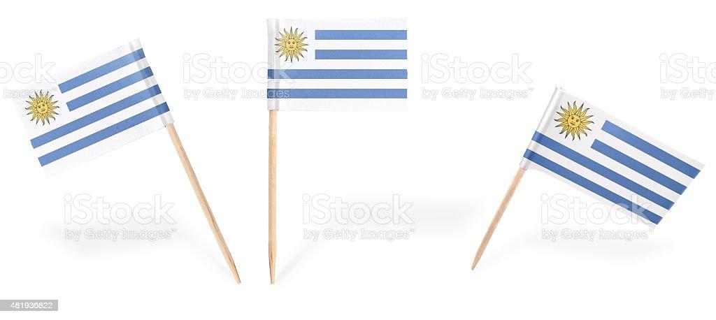 Varios cóctel flags de Uruguay aislado on white. (serie - foto de stock