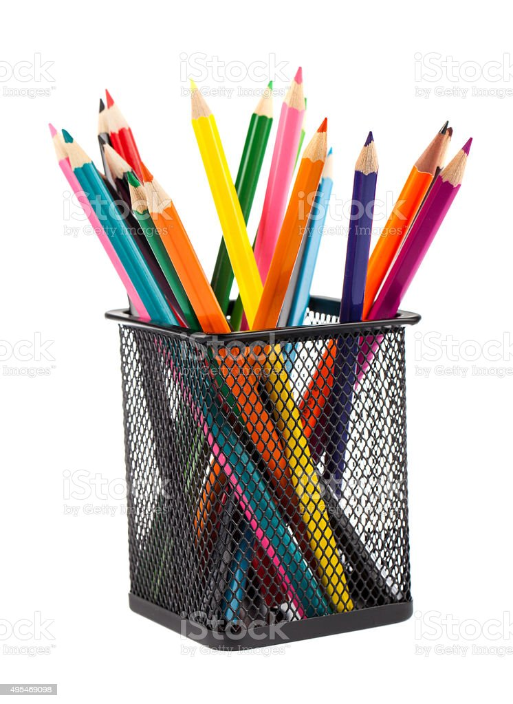 Various color pencils stock photo