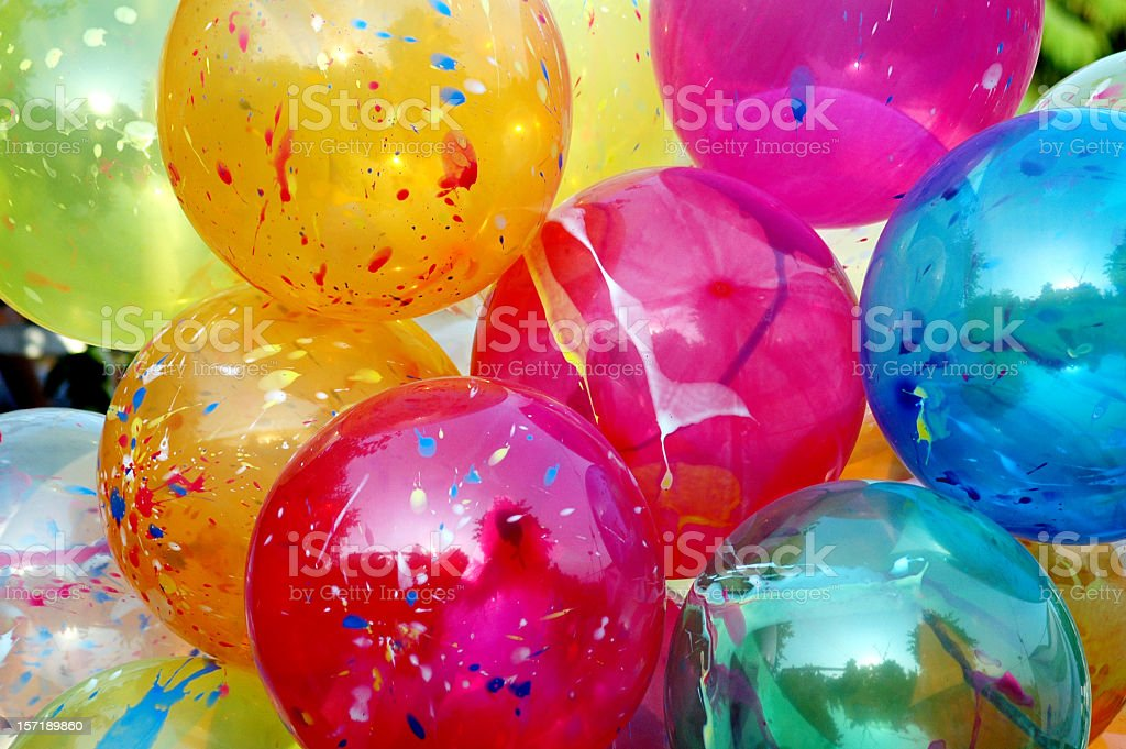 Various colored Christmas balloons royalty-free stock photo