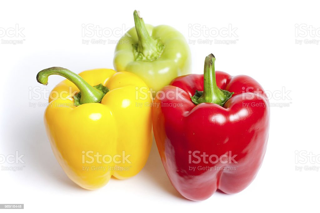 Various colored peppers royalty-free stock photo