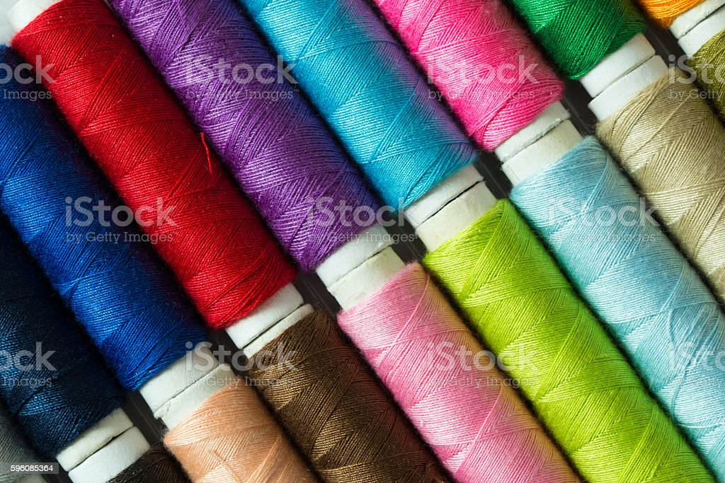 Various colored threads royalty-free stock photo