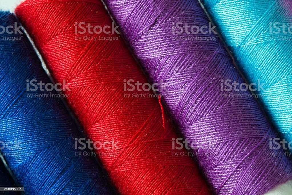 Various colored threads Lizenzfreies stock-foto