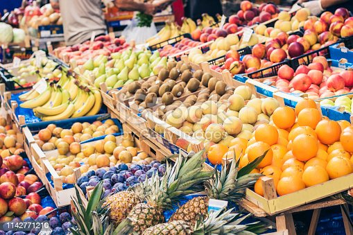 istock various colorful fresh fruits in the fruit market, Catania, Sicily, Italy 1142771210