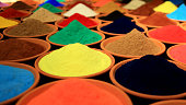 Various Colorful Spices for Display