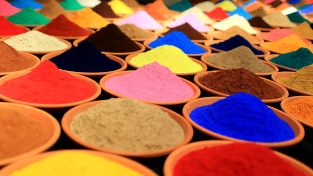 Various Colorful Spices for Display stock photo