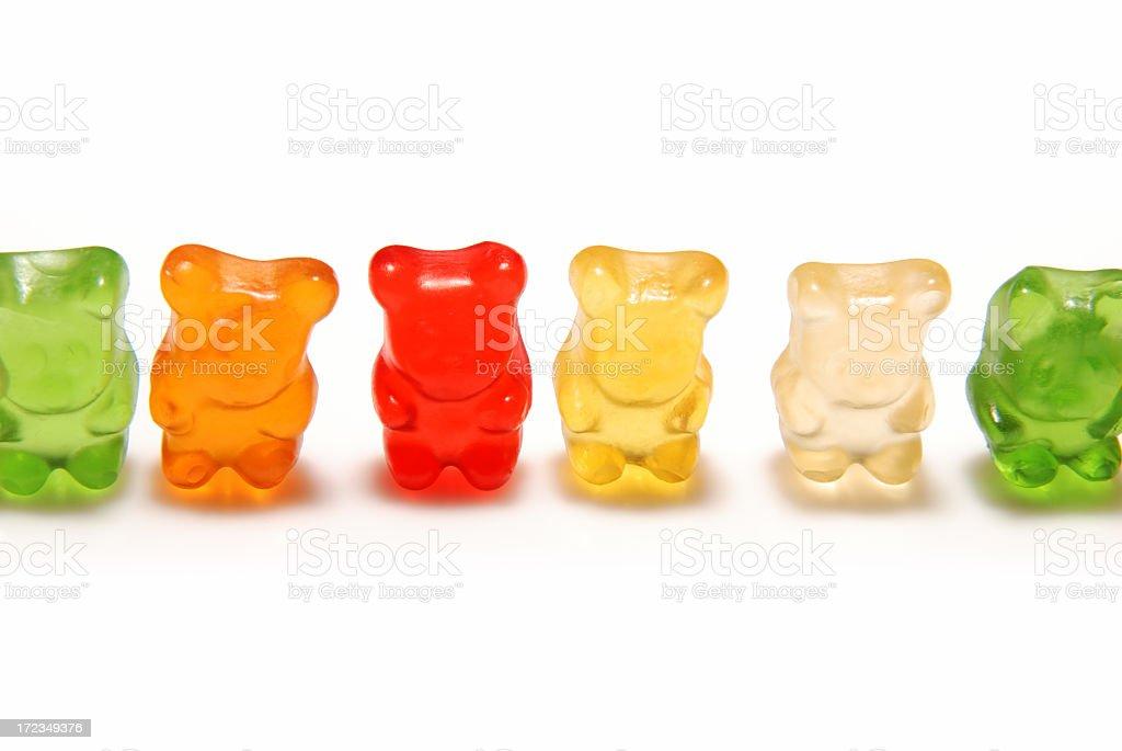 Gummy bear línea foto de stock libre de derechos