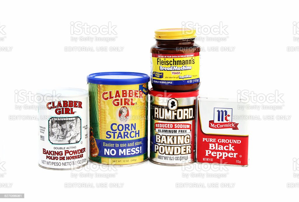 Various cooking or baking ingredients stock photo
