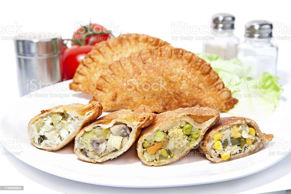 Various Crispy vegetable Samosa royalty-free stock photo