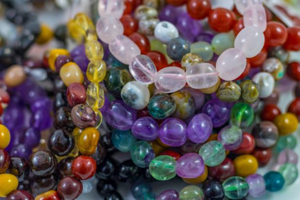 various crystal bracelets - canda armband stock-fotos und bilder