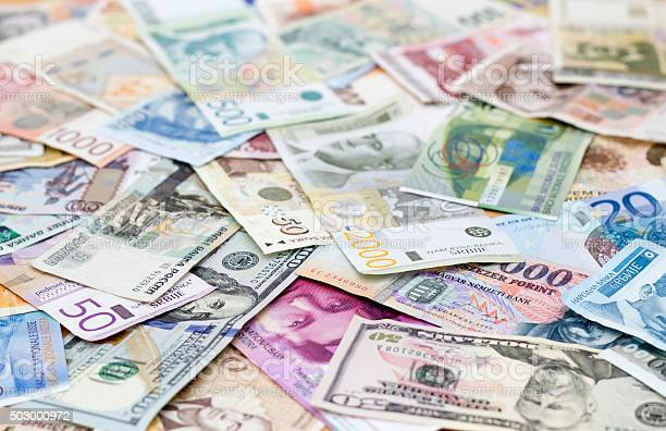 Various Currencies Stock Photo - Download Image Now