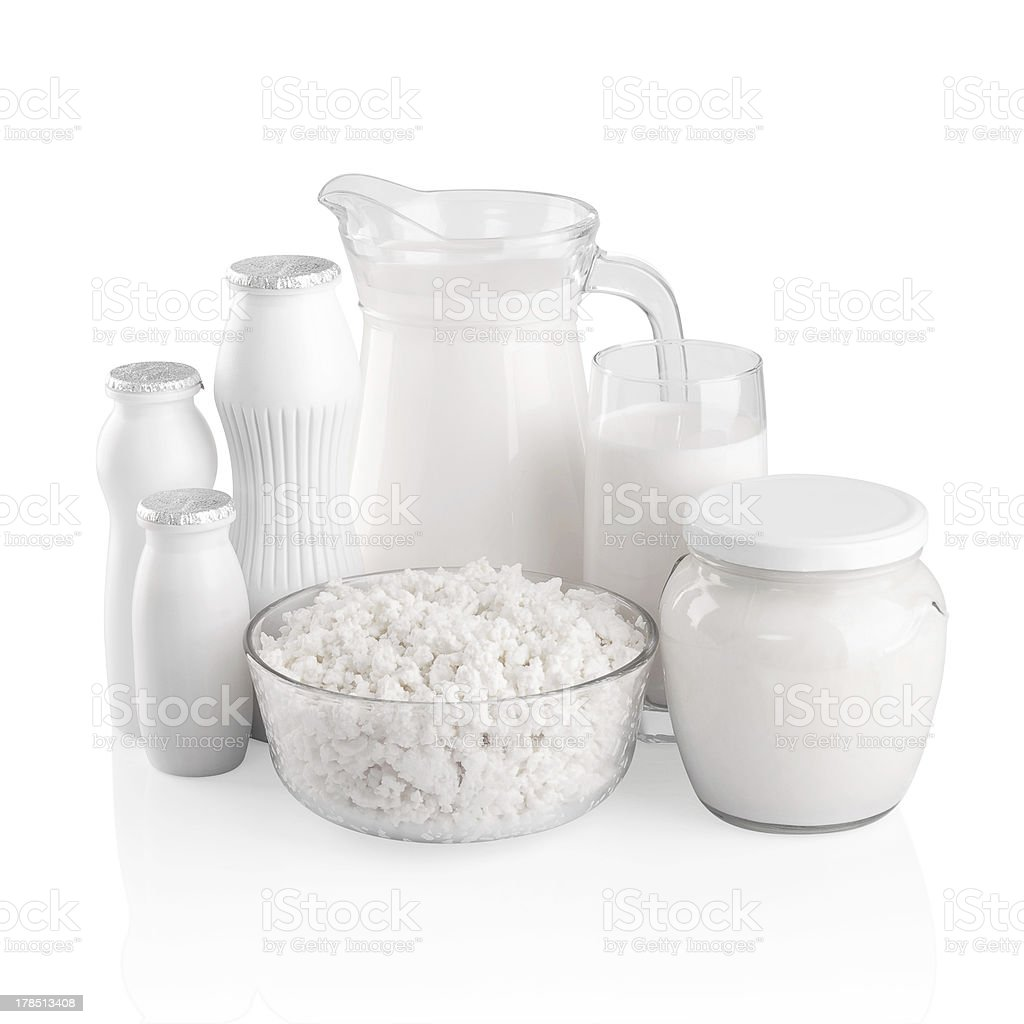 Various dairy products. stock photo