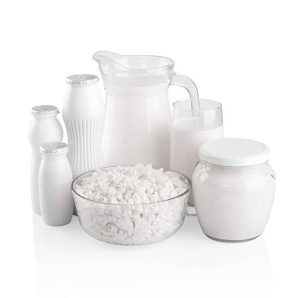 Verschiedene Milchprodukten. – Foto