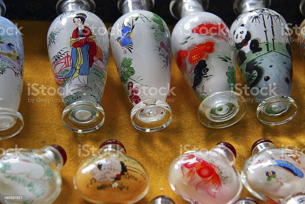 Various Designs Of Chinese Bottle Painting In Beijing Stock Photo Download Image Now Istock