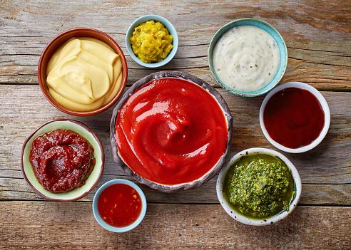 Various Dip Sauces 照片檔及更多 住宅廚房 照片