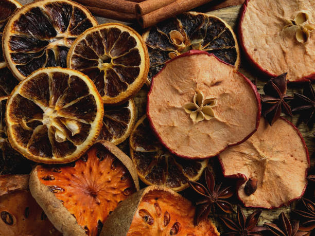 Various dried fruits stock photo