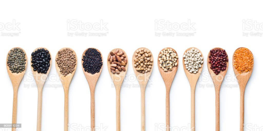 various dried legumes stock photo