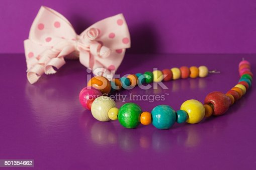 Various elastic bands, hair clips, beads, bows for girls
