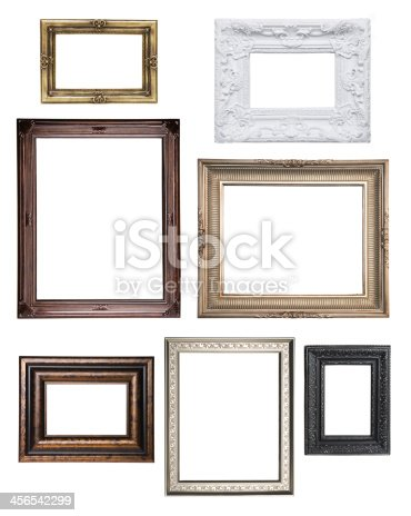 Frames collection isolated on white
