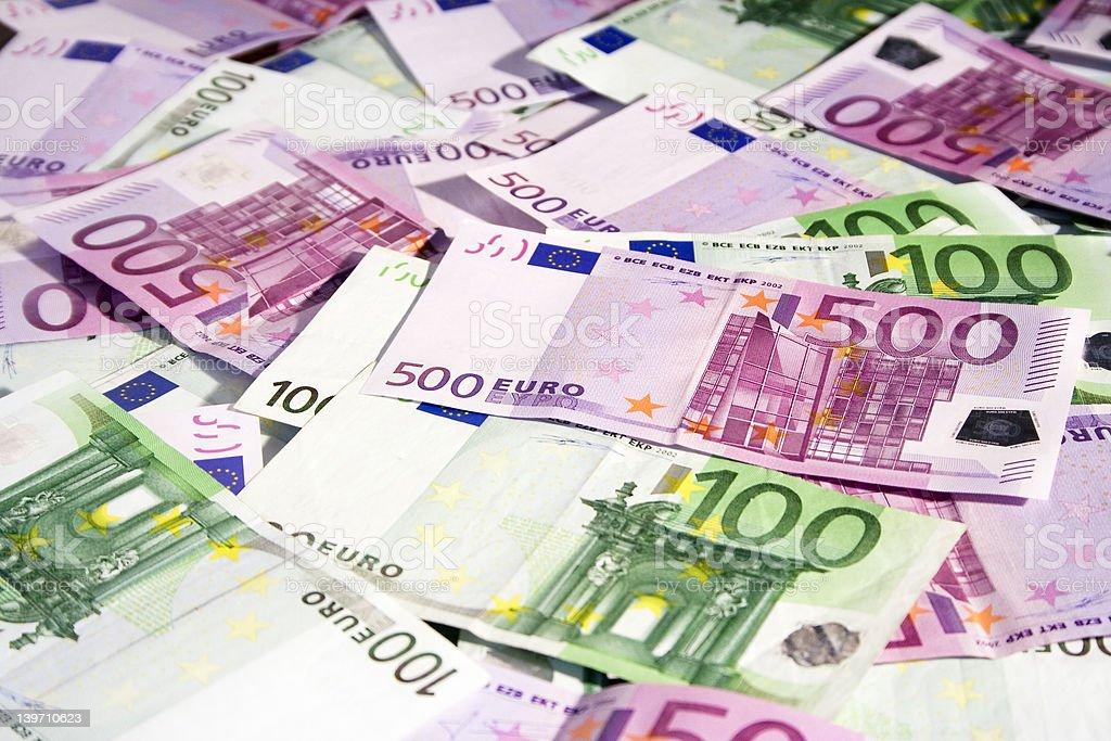 Various Euro Banknotes stock photo