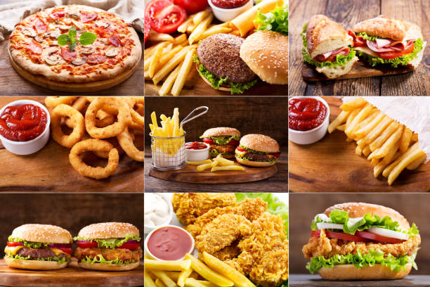 various fast food products - fast food restaurant stock pictures, royalty-free photos & images