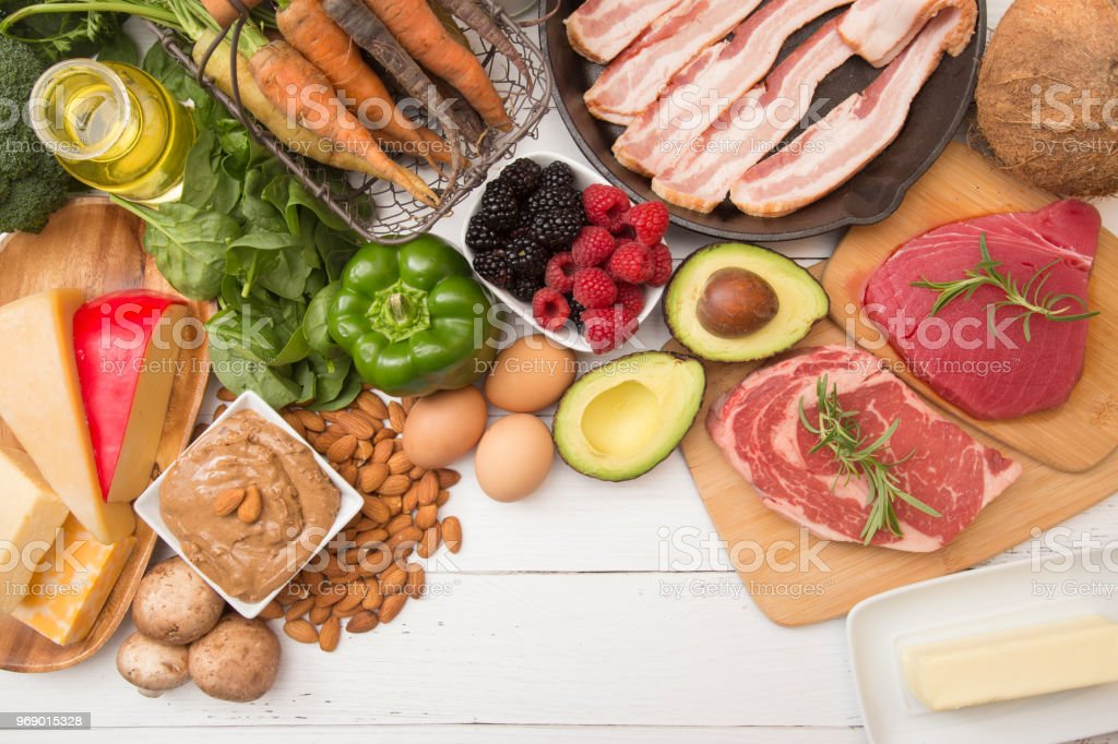 Various Foods that are Perfect for High Fat, Low Carb Diets royalty-free stock photo