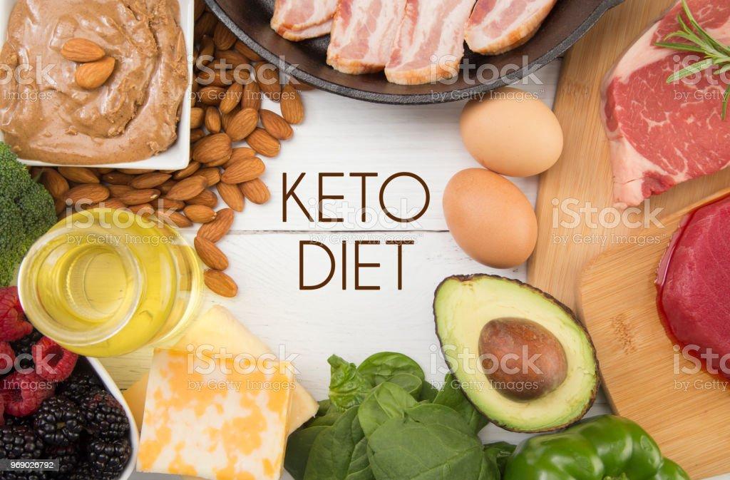 Vários alimentos que são perfeitos para a dieta de Keto - foto de acervo
