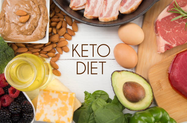 Various Foods that are Perfect for the Keto Diet stock photo