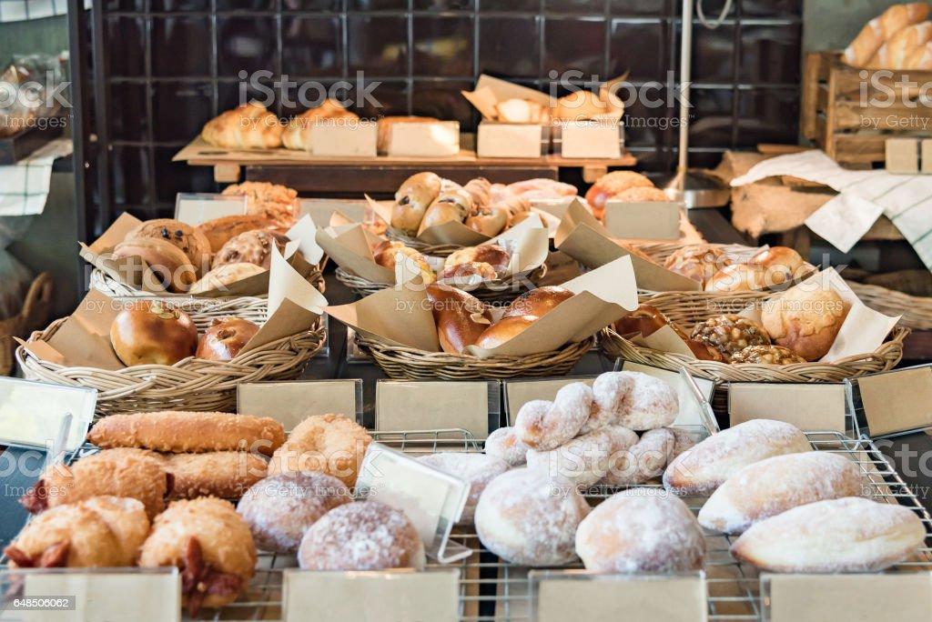 様々 な新鮮なパン屋さん ストックフォト
