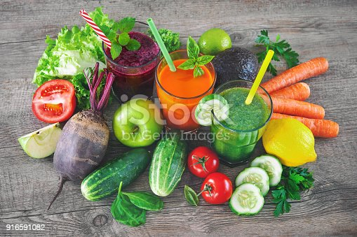 istock Various fruit and vegetable juices 916591082