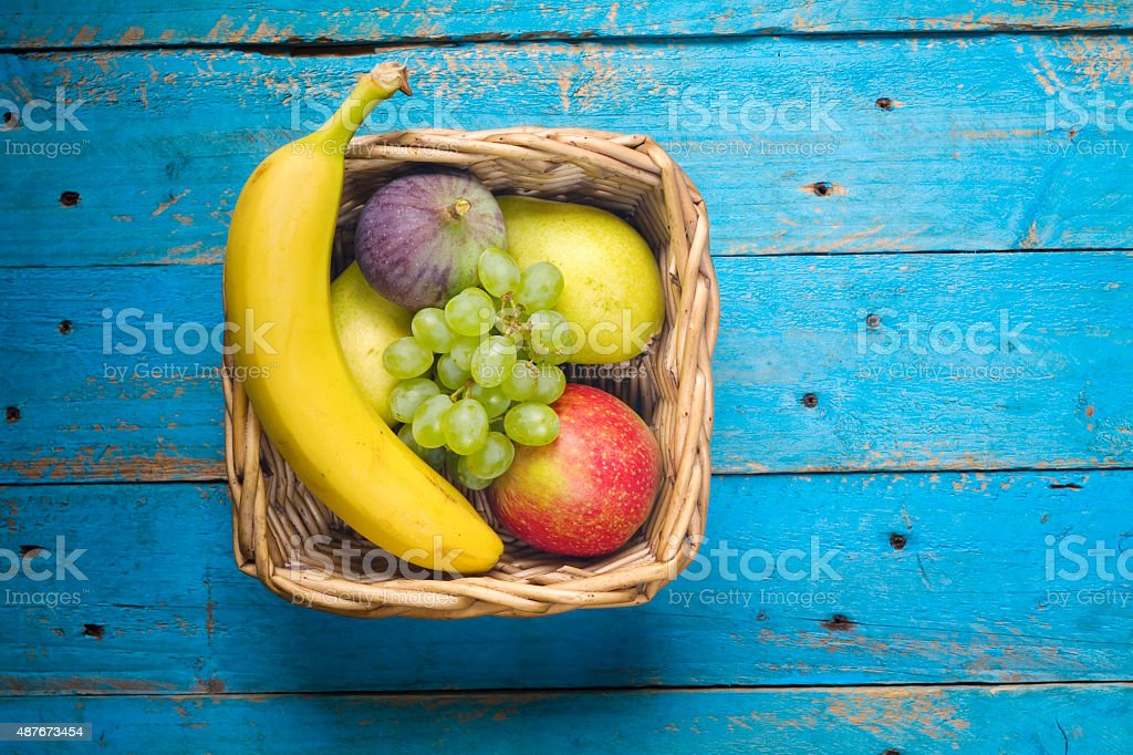 various fruits free copy space stock photo